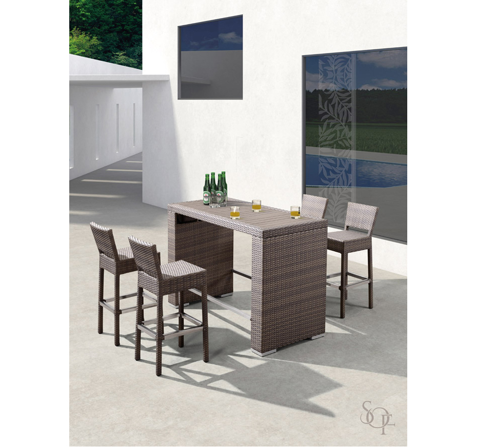 Silhouette Outdoor Furniture Bar Sets Barbaden Collection