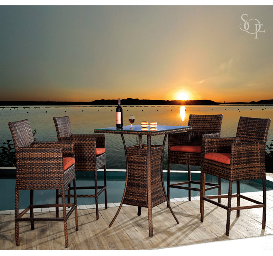 Silhouette Outdoor Furniture Bar Sets Phuket Collection